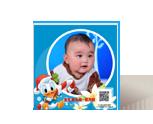 快乐维尼宝宝满月照相册
