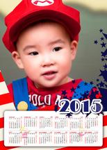 2015年美式休闲风年历