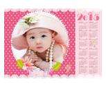 2015年粉色甜心年历